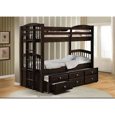 espresso twin bed acme 40000 micah espresso twin twin trundle bunk bed with drawers