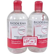 bioderma crealine h2o micelle solution 2 x 500ml amazon co uk beauty