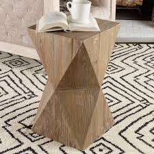 Reclaimed Wood Side Table Mali Reclaimed Wood Side Table Shades Of Light