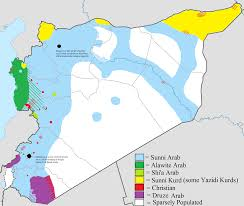 Syria Situation Map by Map Showing The Ethnic And Religious Distribution Of Syria U0027s Sects