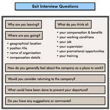 a general analysis of an exit interview