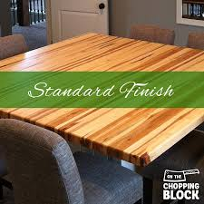 a standard oil finish brings out the natural color of the wood