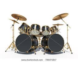steampunk style drum kit isolated on stock illustration 709374817