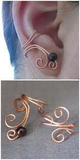 ear clasp diy ear cuff found at bit crafting here she made these