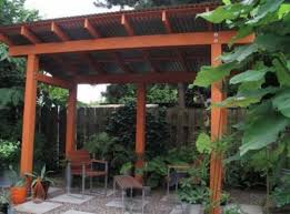 pergola corrugated roof ideas pictures remodel and decor