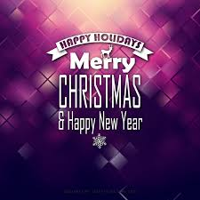 merry christmas happy dark purple background template