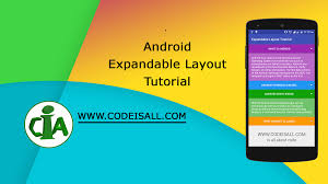 android toolbar tutorial android expandable layout tutorial with exle code is all