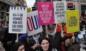 mariage pour tous province ils manifestent pour le mariage pour tous 20 01 2013
