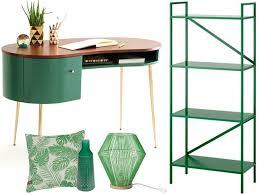 bureau vert la déco couleur vert émeraude effet feel assuré joli place
