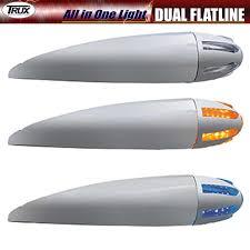 trux dual revolution and dual flatline led lights big rig chrome