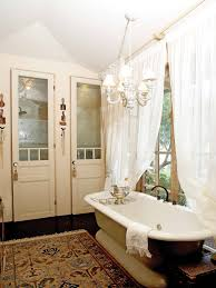 furniture home upscale designer bathroom with chandelier modern