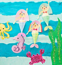 hello wonderful swimming mermaid paper craft with free printables