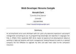 28 sample web developer resume senior web designer resume best