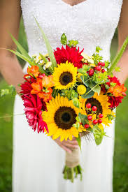 sunflower bouquets sunflowers for wedding flowers 22 cheery sunflower wedding