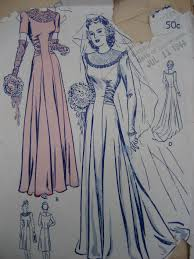 vintage wedding dress patterns vintage patterns 1944 wedding dress moth cloth