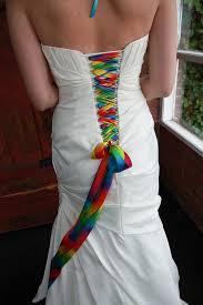 color bibbon on your corset back on wedding dress weddingbee
