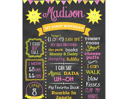 You Are My Sunshine Decorations You Are My Sunshine First Birthday Chalkboard Sign