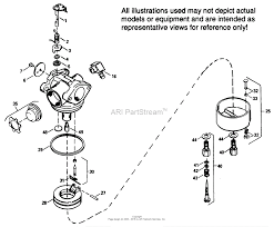 tecumseh ca 632105 parts diagram for carburetor