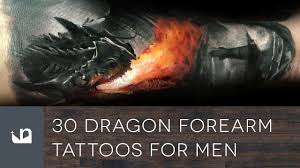 dragon forearm tattoos 30 dragon forearm tattoos for men youtube