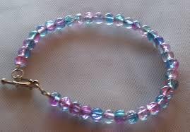pink glass bead bracelet images Cookyanimal 39 s creations jpg
