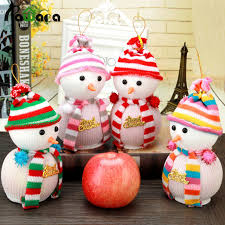 thanksgiving toys 4pcs christmas snowman doll apple gift bags holders pendant
