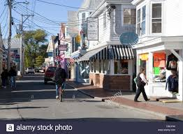 Downtown Cape Cod - cape cod provincetown main street stock photo royalty free image