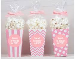 popcorn favor bags excellent ideas baby shower popcorn favors pleasurable inspiration