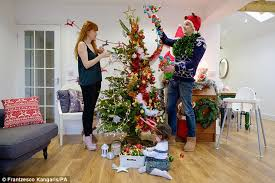 B Q Christmas Window Decorations by B U0026q Unveils First 50 50 Fake And Fir Christmas Tree Daily Mail
