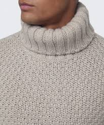 gant chunky basketknit roll neck jumper in natural for men lyst