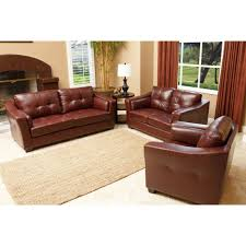 Abbyson Living Leather Sofa Tufted Red Full Grain Chesterfield Sofa Combined Round Varnished