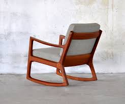 Knoll Rocking Chair Brown Grey Mid Century Wooden Modern Rocking Chair U2013 Plushemisphere