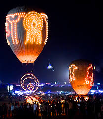 candle balloon ambling in asia