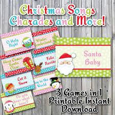 christmas charades printable pdf christmas song version