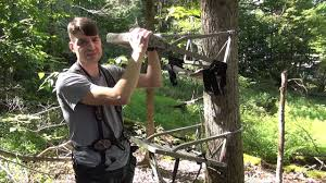 how to set up a climbing tree stand