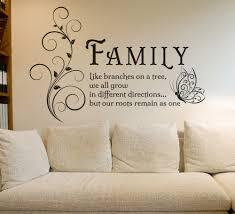 wall art design ideas branches motivational family wall art