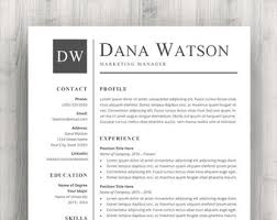 Cv Resume Format Sample by Resume Template Cv Template For Word Professional Resume