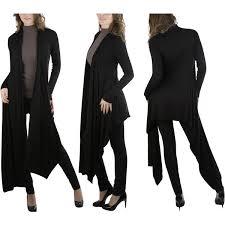 Black Drape Front Cardigan Women U0027s Multi Purpose Cardigan 1 330 Inr Liked On Polyvore
