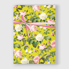botanical wrapping paper botanical print botanical wrapping paper roses gift wrap diy