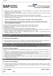 Sap Sd Support Consultant Resume Sap Fico Resume Sample Resume Templates Bus Driver By Machine