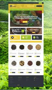 best 25 web design black website template 51120 tea store shop custom website template tea