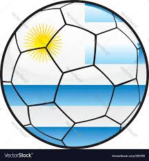 Flag Uruguay Flag Of Uruguay On Soccer Ball Royalty Free Vector Image