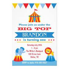 personalized circus birthday invitations custominvitations4u