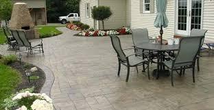 Concrete Patio Designs Concrete Backyard Landscaping Decor Of Concrete Patio Paint Ideas