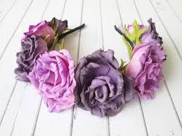 halloween black roses halloween hair crown purple black roses sugar skull flower