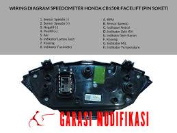 wiring diagram speedometer honda cb150r facelift garasi modifikasi