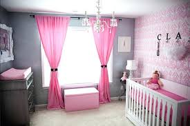 Nursery Pink Curtains Pink Nursery Curtains Baby Nursery Themes With Bench And