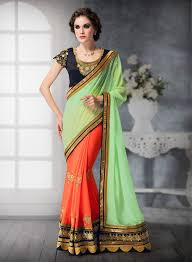 dhaka sarees beautiful half sarees online shopping mexico green orange half