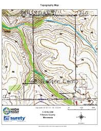 Minnesota Topographic Map 84 5 Acres In Fillmore County Mn High Point Realty U0026 Auction