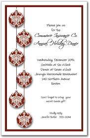 red toile christmas tree ornaments invitation holiday invitation