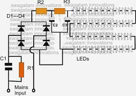 Led Blinking Circuit Diagram Simple Led Bulb Circuit